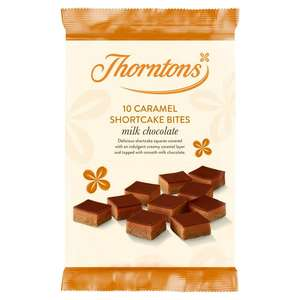 Thorntons Caramel Shortcake Bites or Fudge Brownie Bites x10 - 85p (Min Basket / Delivery Fee Applies) @ Sainsbury's