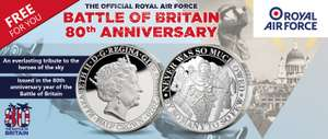 OFFICIAL ROYAL AIR FORCE 'THE FEW' COMMEMORATIVE COIN (+ £2.50 postage) @ London Mint Office