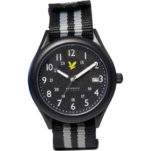 Lyle And Scott Mens Stealth Watch Black £44.98 delivered at MandM Direct