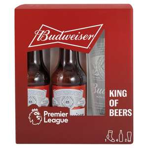 Budweiser Lager Beer Premier League Giftset - £3 (Min Spend / Delivery Fee Applies) @ Tesco