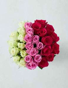 M&S 30 Roses or choice of more bouquets £20 Free nominated day delivery & message @ Marks & Spencer