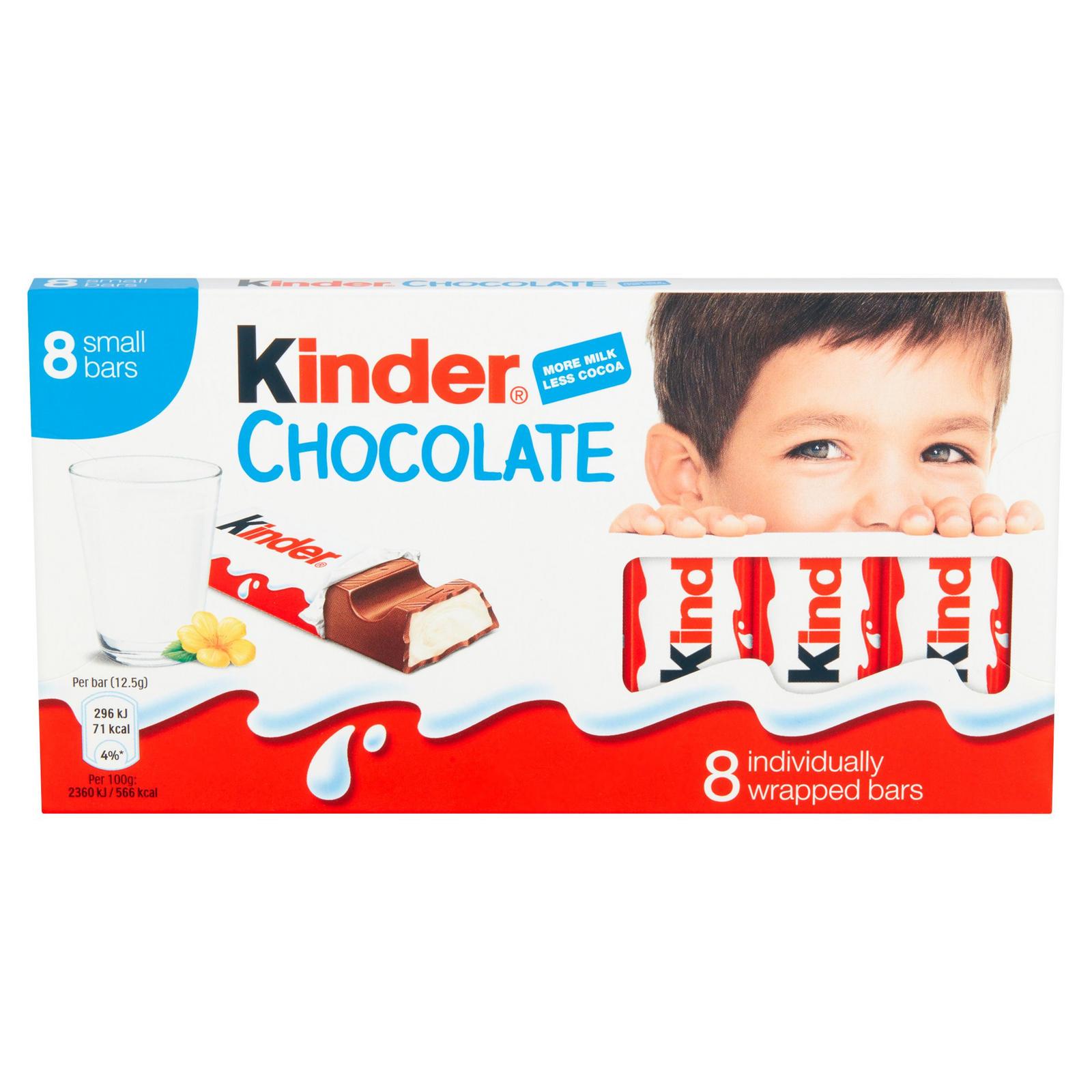 Kinder Chocolate Small Bars (8 Pack) - £1.20 Prime / +£4.49 non Prime (£1.14 S&S) @ Amazon