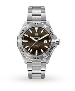 Tag Heuer AquaRacer Men Calibre 5 Automatic STEEL STRAP WATCH £1,550 at Fraser Hart