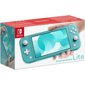 Nintendo Switch Lite - (Coral | Grey | Yellow | Turquoise) £184.98 Delivered + £10 Bonus Reward Points @ Game