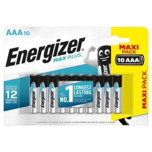AAA Energizer Max Plus batteries 10 pack £1.50 instore @ Asda Hyde