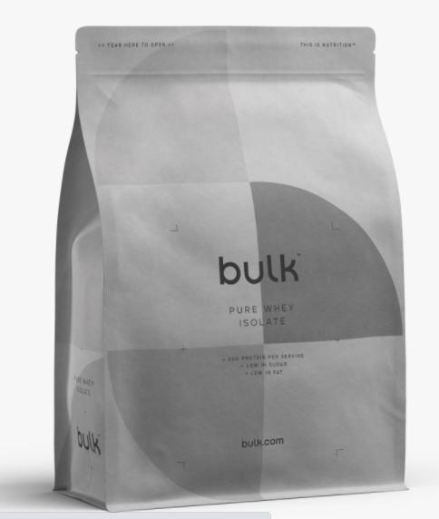 5kg Whey Isolate - £49.99 Delivered @ Bulk