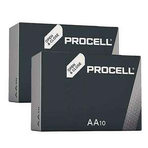 20 x AA/AAA PROCELL Batteries MN1500 MN2400 Battery Replaces Duracell Industrial - Expiry 2026 - £6.99 @ focalmart_uk/eBay