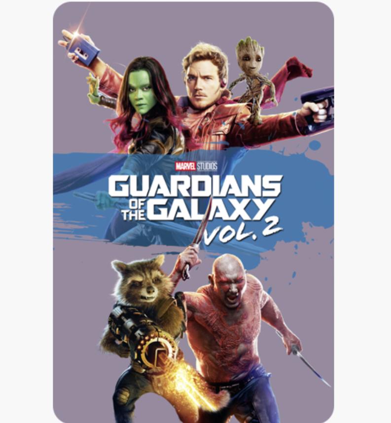 Guardians of the Galaxy & Vol 2 4K digital films £4.99 each @ iTunes