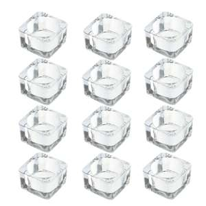 Square Tealight Candle Holder   M&W Set of 12 - £3.99 + £2.95 Delivery @ ROOV