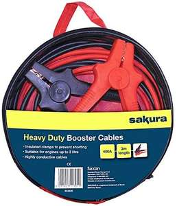 Heavy Duty Jump Start Lead, 400 Amp 3 m - For Vehicles Up To 3.0L - £9.79 ( + £4.49 None Prime) @ Amazon