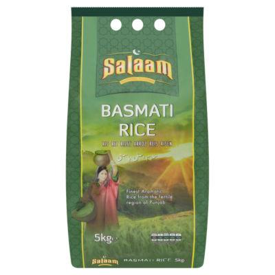 Salaam Basmati Rice 5kg - £5.00 (£1/kg) (+ Delivery Charge / Minimum Spend Applies) @ Asda