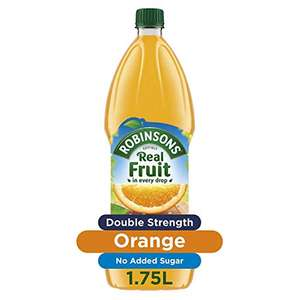 Robinsons Fruit Squash Orange (other flavours in post), 1.75L (£1.49/£1.70 with S&S) £1.75 @ Amazon Prime / £6.49 Non Prime