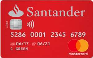NO Fee + 0% interest on balance transfers for 18 months Credit Card @ Santander