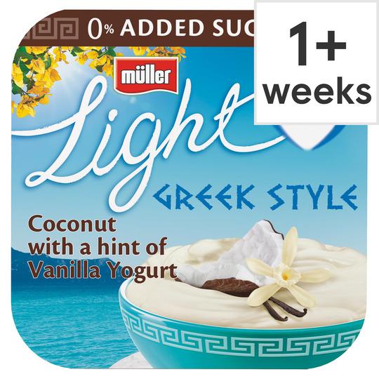 Muller Light Greek Strawberry Yogurt 4X120g £1 with clubcard (Minimum Basket / Delivery Fees Apply) @ Tesco