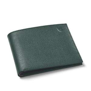 8 Card Billfold Wallet Green Saffiano & Smooth Green £33.45 delivered @ Aspinal of London
