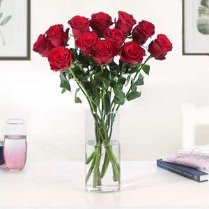 The 12 Red Roses bouquet only £16 (with code) delivery £2.99 via App @ Moonpig