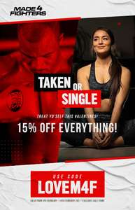15% Off Selected Lines Using Code - Excludes Sale Items at made4fighters