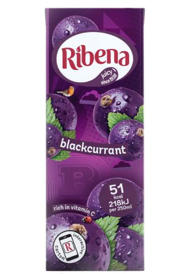 Ribena Blackcurrant Cartons - 24 Carton x 250ml £8.00 prime / £12.49 non prime or as cheap as £6.80 with sub and save @ Amazon