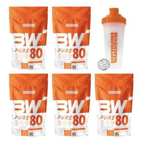 5x 500g Whey Protein Packs and Free Protein Shaker £27.47 +£3.95 delivery @ Bodybuilding Warehouse