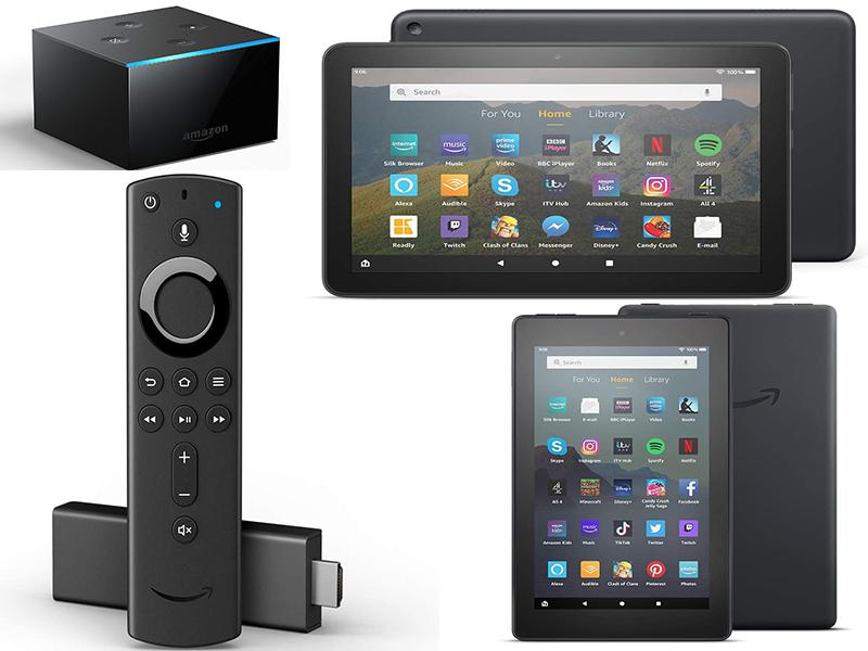 Amazon Fire TV Stick 4K- £34.99 / Fire TV Cube (2019) 4K-£79.99/ Fire 7 (16GB)-£34.99/(32GB)-£44.99 /Fire 8 (32GB)-£69.99 +(£3.95 del)@Argos