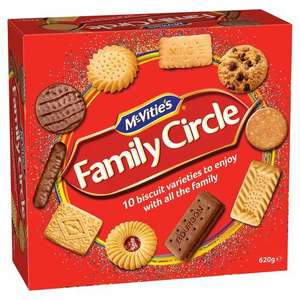 Mcvities family circle biscuits 310g 79p/ 620g £1.49 @ farmfoods Yardley