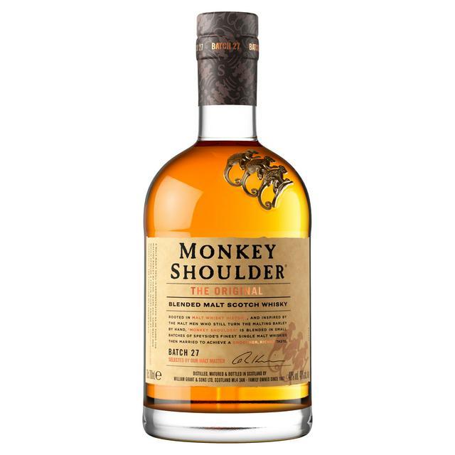 Monkey Shoulder Blended Malt Whisky 70cl 40% for £22 (+ Delivery Charges / Minimum Basket Applies) at Sainsburys