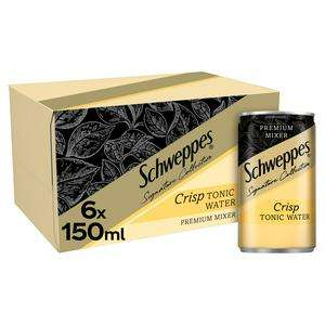 Schweppes 1783 Crisp or Light Tonic Water 6 x 150ml - £2 (+ Delivery Charges / Minimum Basket Applies) @ Sainsbury's