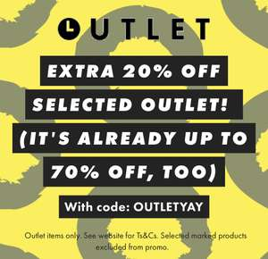 Extra 20% off selected outlet @ ASOS