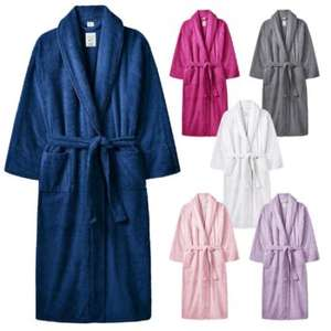 100% cotton Adults One Size Terry Towelling Dressing Gown £10 with free Delivery 6 colours to choose From @ Weeklydeals4less