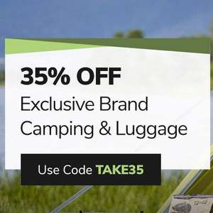 35% off Exclusive Brand Camping Gear & Luggage with code @ Millets