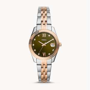 Fossil Scarlette Mini Three-Hand Date Two-Tone Stainless Steel Watch with Free Engraving £41.30 + Free UK mainland delivery @ Fossil