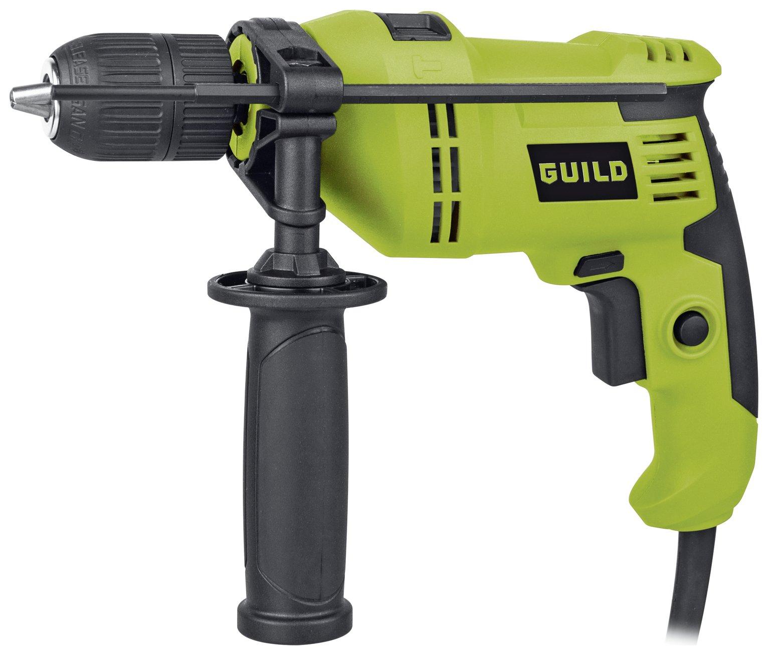 Guild 13mm Keyless Corded Hammer Drill - 600W £23.95 / Rotary Hammer Drill £43.95 / Sander £23.95 + more + 2 year guarantee @ Argos
