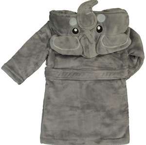 Babytown Grey Plush Elephant Baby Hooded Robe £6.00 + £3.99 Delivery From TK Maxx