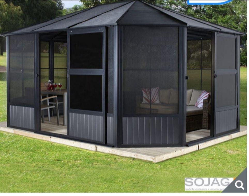 Sojag Charleston 12ft x 12ft (3.67 x 3.67m) Aluminium Frame Solarium With Galvanised Steel Roof - £2699.89 @ Costco