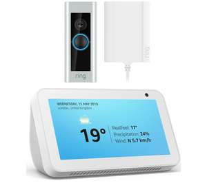RING Video Doorbell Pro with Plug-In Adapter & Amazon Echo Show 5 (2019) Bundle - White/Black for 173.99 delivered @ Currys