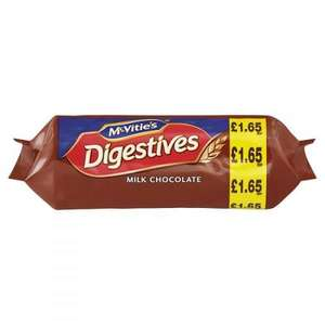 McVitie's Milk Chocolate Digestive Biscuits, 266g £1 (Prime) + £4.49 (non Prime) at Amazon