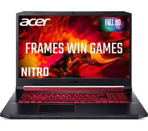 """ACER Nitro 5 AN517 17.3"""" Gaming Laptop - Intel i7 8GB RAM RTX 2060 256 GB SSD - £825 delivered @ Studentcomputers.com"""
