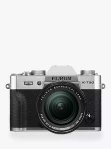 Fujifilm X-T30 Mirrorless Digital Camera with XF 18-55mm lens now £999 delivered at John Lewis & Partners