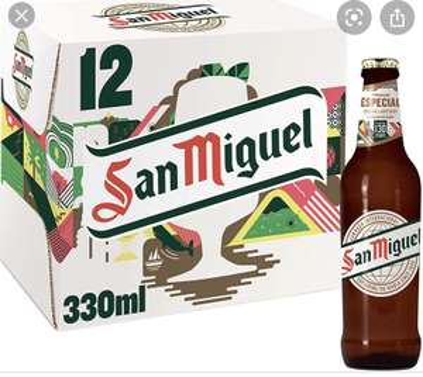 San Miguel Premium Lager, 12 x 330ml£9 (+£4.49 non-prime) @ Amazon