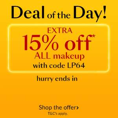 Extra 15% off make up including sale items at Debenhams