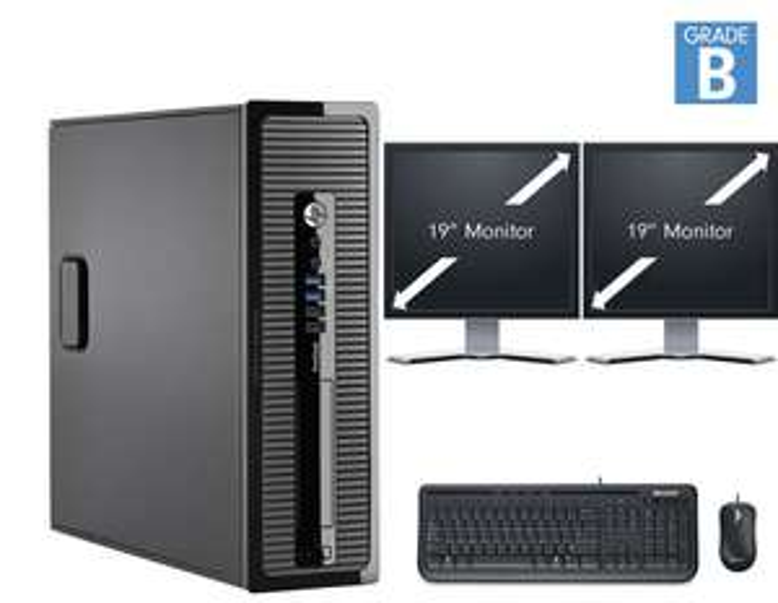 Home & Office Dual Screen Bundle Intel Core i3 - Windows 10 Grade B £85 @ Stone refurb