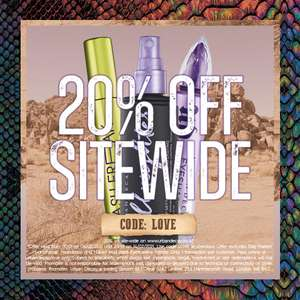 20% Off using discount code + Free UK delivery @ Urban Decay