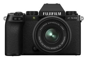 FUJIFILM X-S10 Mirrorless Camera with FUJINON XC 15-45 mm f/3.5-5.6 OIS PZ Lens - Black - £949 @ Currys