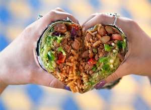 Grab 2 burritos or naked burritos for the price of 1 with click & collect on Valentine's Day @ Tortilla