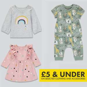 Matalan £5 & Under Baby Event + 20% Off with code + Free delivery on £50 spend (otherwise £3.95) @ Matalan
