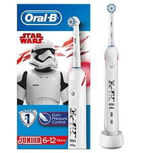 Oral-B Kids Junior Electric Rechargeable Toothbrush Star Wars, Pressure Sensor, 1 Head, Ages 6-12 £34.99 @ Amazon