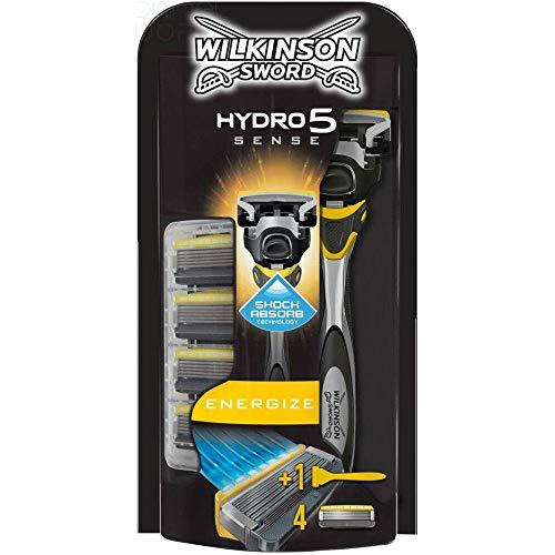 Wilkinson Sword Hydro 5 Sense Energizer Men's Razor with x 4 Blade Refills £7 prime or £5.95 Subscribe and Save (+£4.49 non prime) @ Amazon