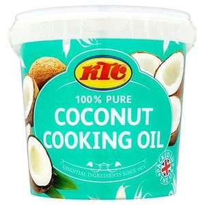 KTC 100% Pure Coconut Cooking Oil 1kg - £3 (+ Delivery Charge / Minimum Spend Applies) @ Asda