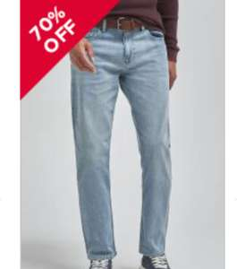 Clearance Sale : Up to 80% off many mens items - Straight Bleach Straight Fit Belted Jeans With Stretch £8 + £3.99 delivery @ Next
