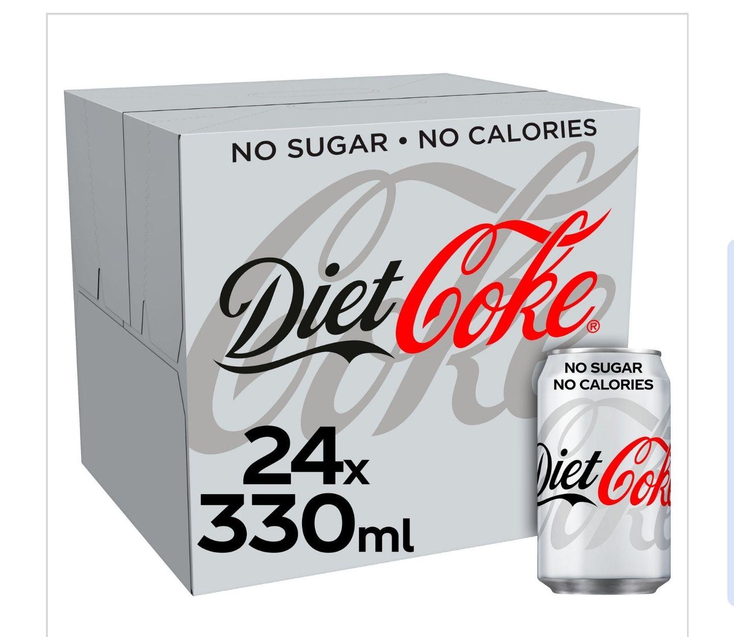 24 x Diet Coke/Coca Cola Zero at Food Warehouse (Iceland) Oldham - £6.75